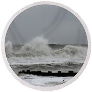 The Force Of Nature - Jersey Shore Round Beach Towel