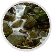 The Forest Brook Round Beach Towel