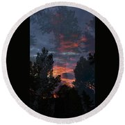 The Forest Through The Trees Round Beach Towel