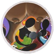 The Fountain Of Life Round Beach Towel