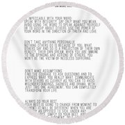 The Four Agreements 5 Round Beach Towel