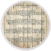 The Four Agreements 8 Round Beach Towel