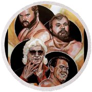 The Four Horsemen Round Beach Towel