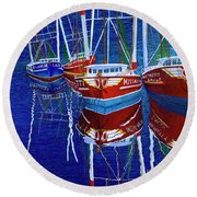 The Four Ladies Round Beach Towel