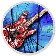 The Frankenstrat Vii Cropped Round Beach Towel