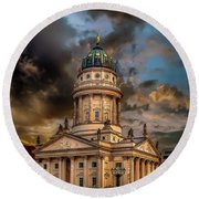 The French Church 3 Round Beach Towel