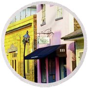 The French Quarter Wedding Chapel Round Beach Towel