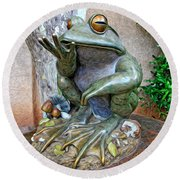 The Frog Round Beach Towel