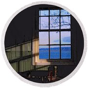 Round Beach Towel featuring the digital art The View From Inside by I'ina Van Lawick