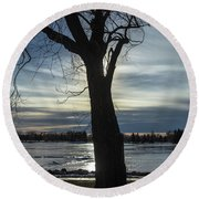 The Frozen Sun Round Beach Towel