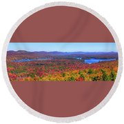 The Fulton Chain Of Lakes Round Beach Towel