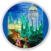 The Garden Of Pictures Round Beach Towel