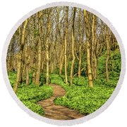 The Garlic Forest Round Beach Towel by Roy McPeak