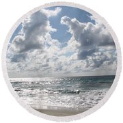 The Gate Way To Heaven Round Beach Towel