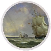 The Gathering Storm Round Beach Towel