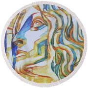 The Gaze - Inspired By Tullio Lombardo, 1460-1532 Round Beach Towel