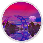 Round Beach Towel featuring the photograph The Gergst Of Fergst by Mark Blauhoefer