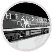 The Ghan Bw Round Beach Towel