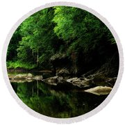 The Ghost Hole Williams River Round Beach Towel by Thomas R Fletcher