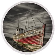 The Ghost Ship Round Beach Towel