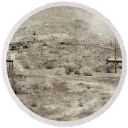 The Ghost Town Round Beach Towel