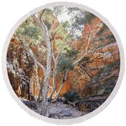 The Ghosts Of The Chasm Round Beach Towel