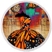 Round Beach Towel featuring the mixed media The Gift Of Life by Marvin Blaine