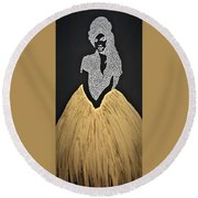 The Girl From Ipanema Round Beach Towel