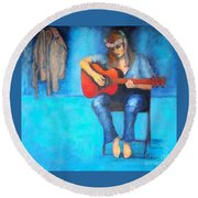 Music In The Alhambra Round Beach Towel