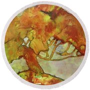 The Giving Tree Round Beach Towel by Terry Honstead