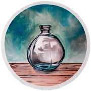 The Glass Bottle Round Beach Towel