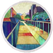 The Glass Bridge Round Beach Towel