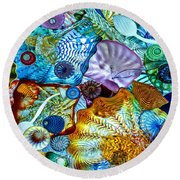 The Glass Ceiling Round Beach Towel