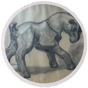 The Glass Goat Round Beach Towel