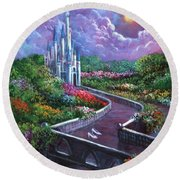 The Glass Slippers Round Beach Towel