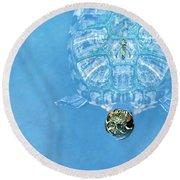 The Glass Turtle Round Beach Towel
