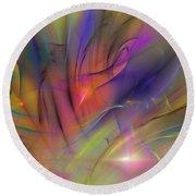 The Gloaming Round Beach Towel by David Lane