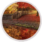 The Glory Of Autumn Round Beach Towel