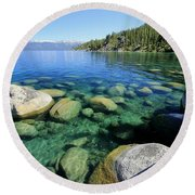 Round Beach Towel featuring the photograph The Glory Of Morning by Sean Sarsfield