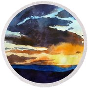 The Glory Of The Sunset Round Beach Towel