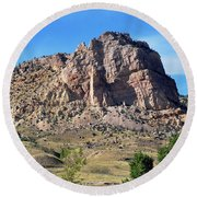 The Glory Of Wyoming Round Beach Towel