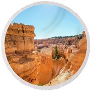 Round Beach Towel featuring the photograph The Glowing Canyon by Margaret Pitcher