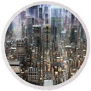 The Gold District Round Beach Towel