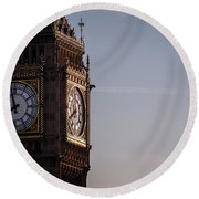 The Golden Clock Round Beach Towel