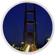 The Golden Gate Bridge Twilight Round Beach Towel