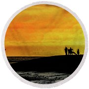 The Golden Hour II Round Beach Towel