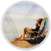 The Good Life Round Beach Towel