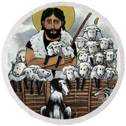 The Good Shepherd - Mmgoh Round Beach Towel