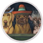 The Good,the Bad And The Ugly Round Beach Towel