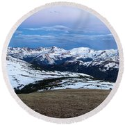 The Gore Range At Sunrise - Rocky Mountain National Park Round Beach Towel